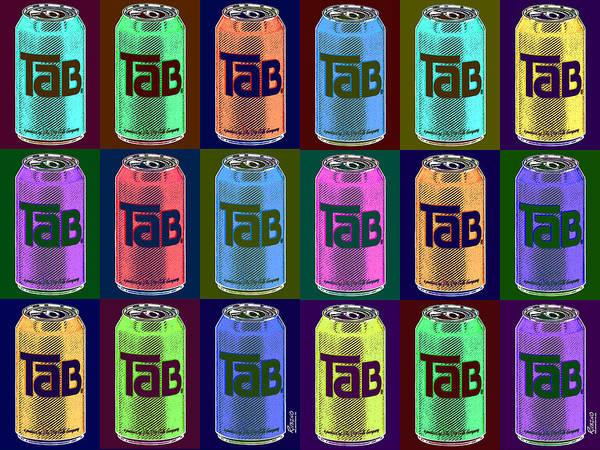 Andy Warhol Painting - Tab Ode To Andy Warhol Repeat Black Horizontal by Tony Rubino