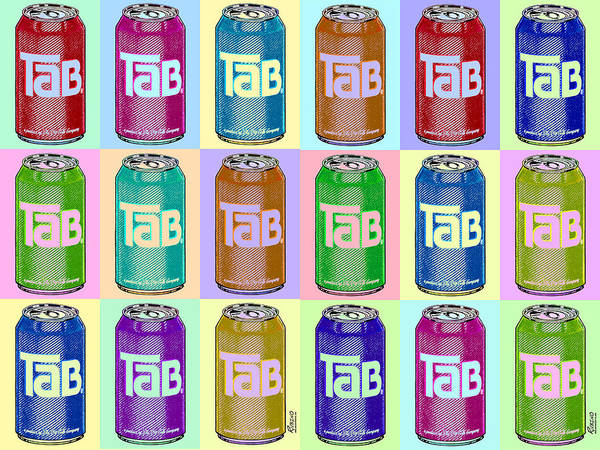 Screen Painting - Tab Ode To Andy Warhol Repeat Horizontal by Tony Rubino
