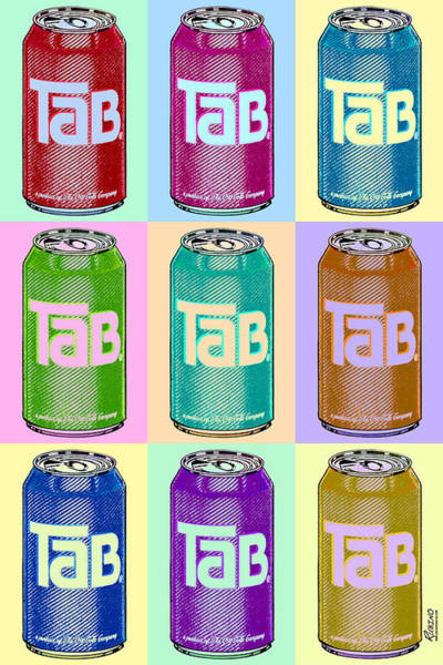 Andy Warhol Painting - Tab Ode To Andy Warhol Repeat by Tony Rubino