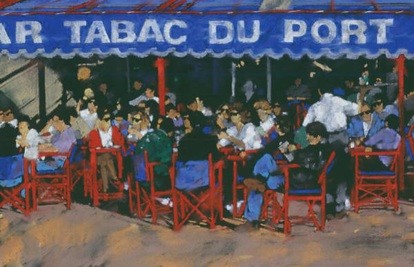 Outdoor Cafe Photograph - Tabac Du Port by MGL Meiklejohn Graphics Licensing