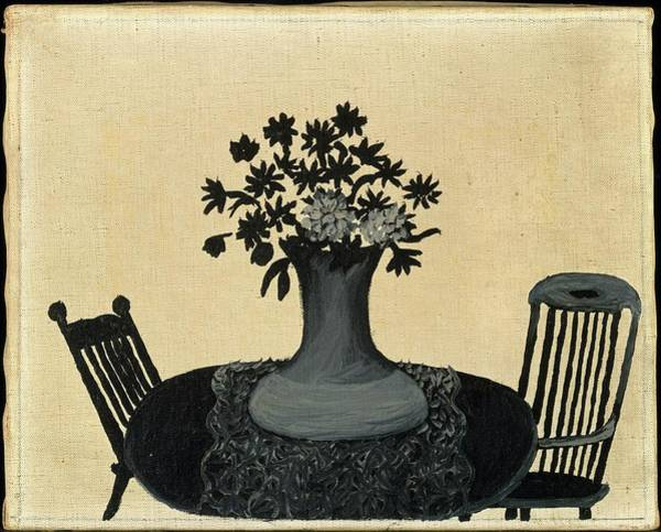 Central America Painting - Table And Two Chairs by Horace Pippin