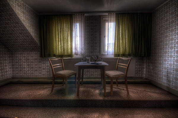 Depressed Digital Art - Table For Two by Nathan Wright