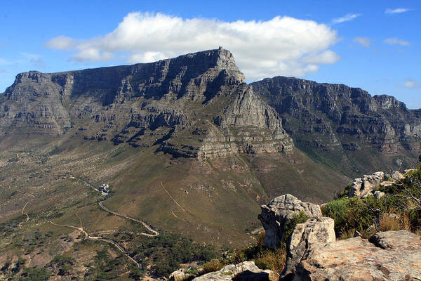 Photograph - Table Mountain Cape Town by Aidan Moran