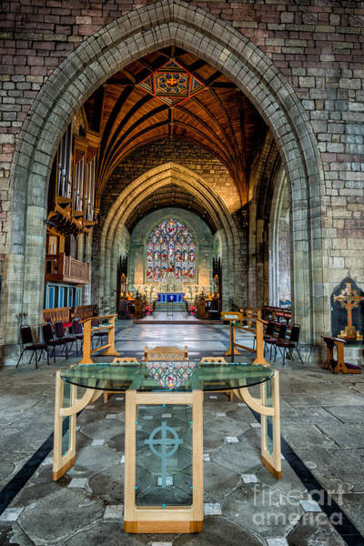 Welsh Church Wall Art - Photograph - Table Reflections by Adrian Evans