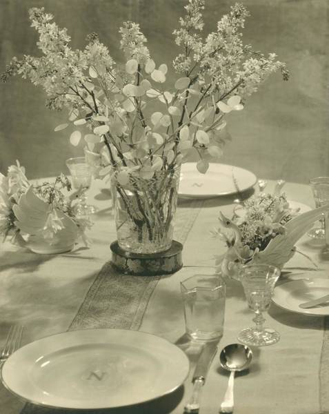 Antique Furniture Photograph - Table Setting by Edward Steichen