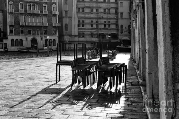 Wall Art - Photograph - Table Silhouette In Venice by John Rizzuto