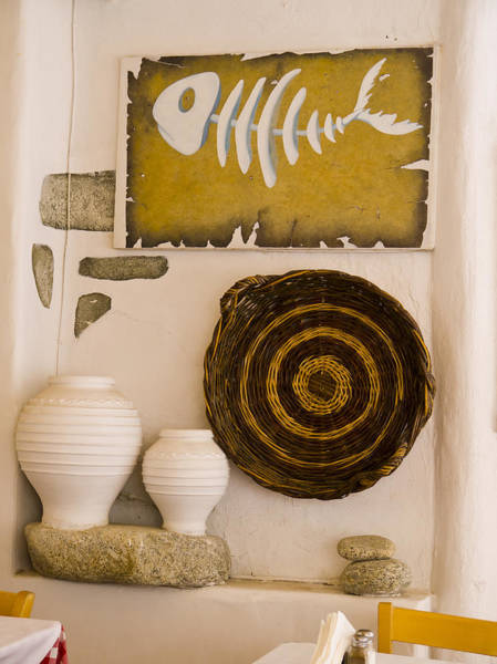 Photograph - Tableau In Cafe In Mykonos by Brenda Kean