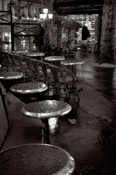 Photograph - Tables In The Rain by Matthew Pace