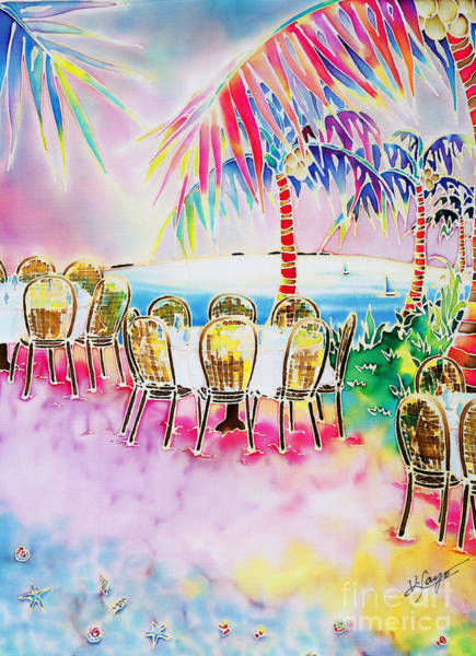 Tables On The Beach Art Print