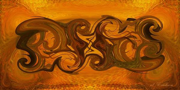 Digital Art - Tablet Xii by rd Erickson