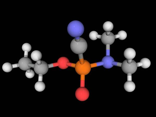 Compound Photograph - Tabun Nerve Agent Molecule by Laguna Design/science Photo Library
