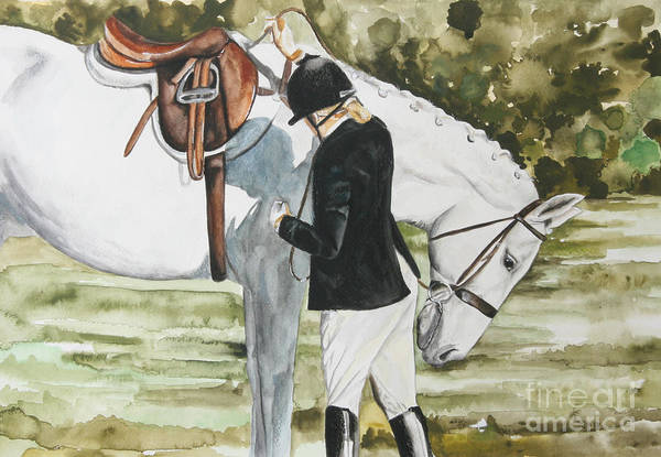 Painting - Tacking Up by Kathy Laughlin