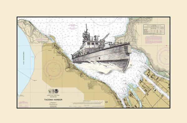 Fireboat Wall Art - Drawing - Tacoma Fireboat by Jack Pumphrey