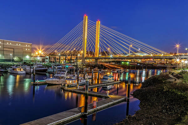 Photograph - Tacoma Foss Waterway Bridge by Wes and Dotty Weber