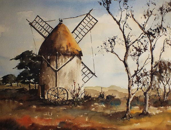 Painting - Tacumshin Windmill Wexford  by Val Byrne
