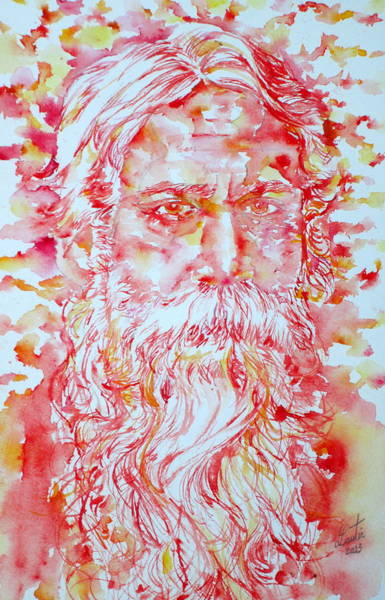 Nobel Painting - Tagore by Fabrizio Cassetta