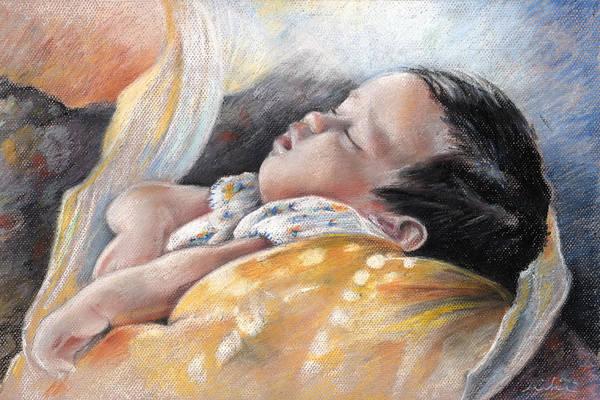 Painting - Tahitian Baby by Miki De Goodaboom