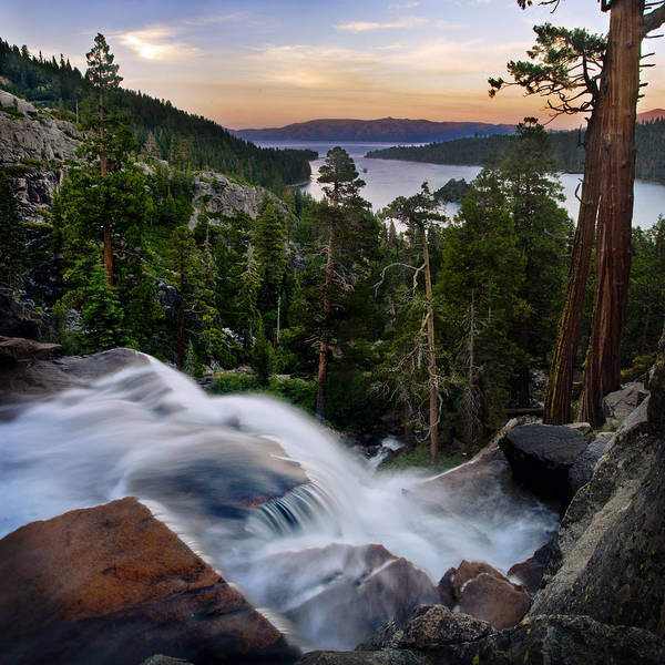 Whitewater Falls Photograph - Tahoe Eagle Falls Sunrise 2 by Dave Dilli