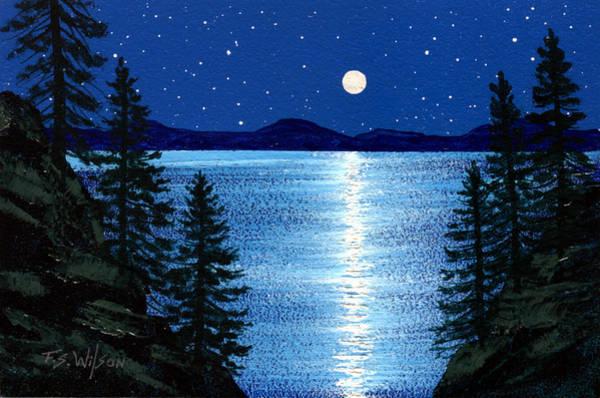 Painting - Tahoe Moonrise by Frank Wilson