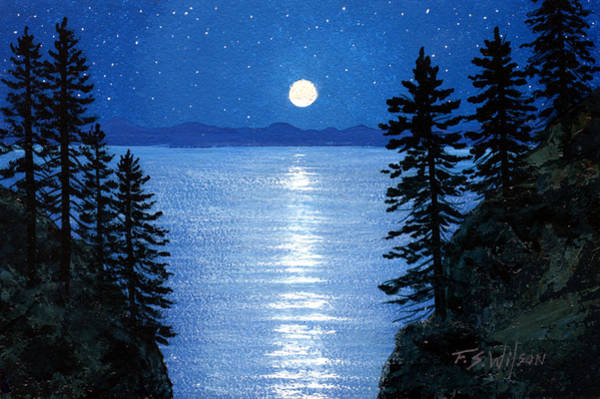 Painting - Tahoe Nocturne by Frank Wilson