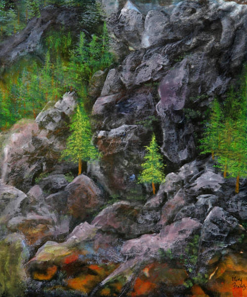 Ming Tree Painting - Tahoe Rocks by Ming Franz