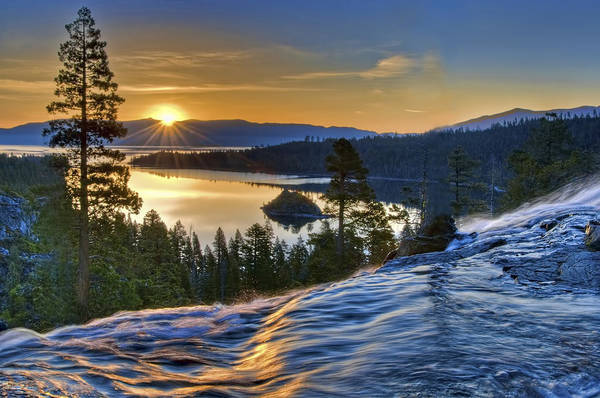 Emerald Bay Photograph - Tahoe Sunrise by Maria Coulson