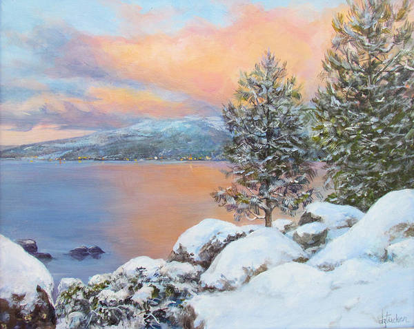 Painting - Tahoe Winter Colors by Donna Tucker