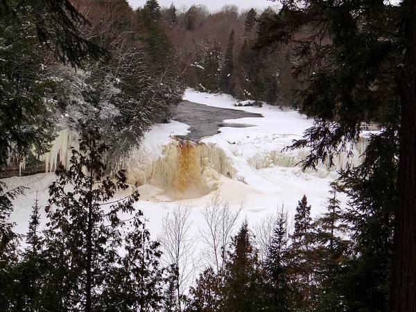 Tahquamenon Falls In Winter Art Print