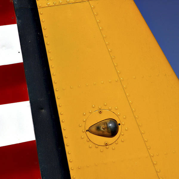 Vintage Airplane Photograph - Tail Detail Of Vultee Bt-13 Valiant by Carol Leigh