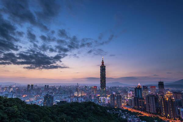 Taiwan Photograph - Taipei Night by Taipei, Taiwan  By  Balmung