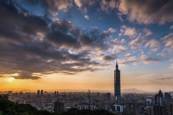 Taiwan Photograph - Taipei Sunset by Taipei, Taiwan  By  Balmung