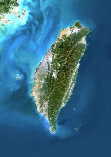 Landsat 7 Wall Art - Photograph - Taiwan by Planetobserver/science Photo Library
