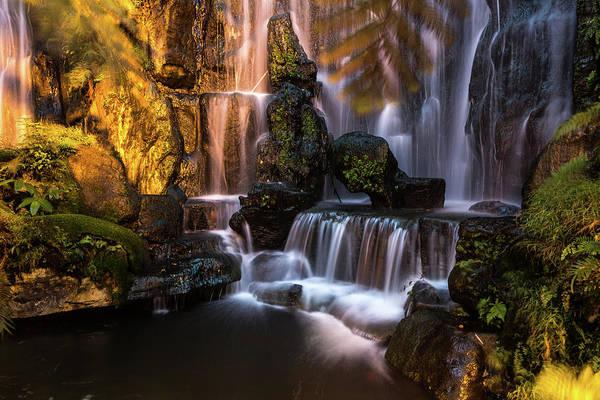 Taiwanese Wall Art - Photograph - Taiwan Temple Waterfall by @ Didier Marti
