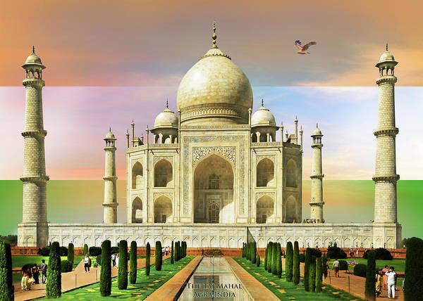Wall Art - Painting - Taj Mahal by MGL Meiklejohn Graphics Licensing