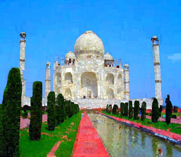 Post-it Painting - Taj Mahal by Bruce Nutting