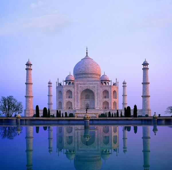 Wall Art - Photograph - Taj Mahal, India by Indian School