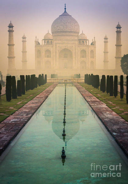 Minarets Photograph - Taj Mahal Predawn by Inge Johnsson