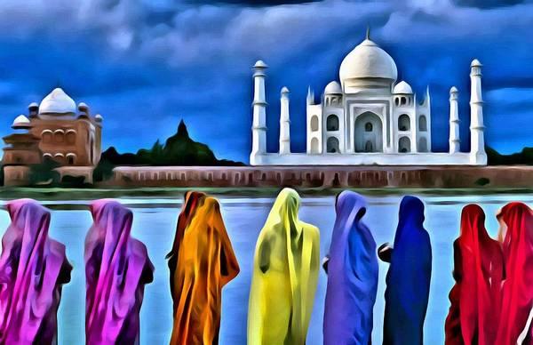 Painting - Taj Mahal Royal Palace by Florian Rodarte
