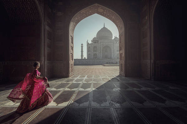 Domes Wall Art - Photograph - Tajmahal by Sarawut Intarob