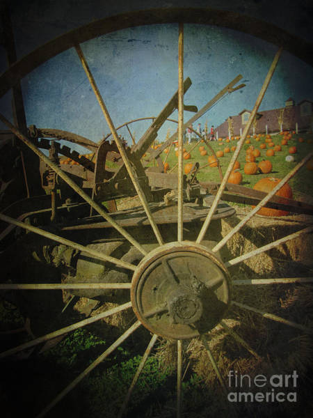 Wagon Wheel Digital Art - Take A Peek Through The Old Times To Now by Adri Turner
