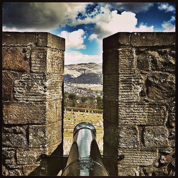 Weapon Photograph - Take Aim!! #cannon At #stirling #castle by Emma  Maudsley