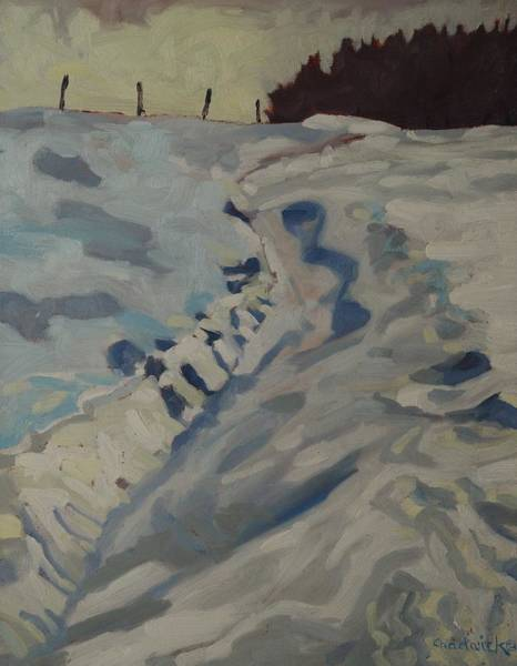 Barn Snow Painting - Take Another Road by Phil Chadwick