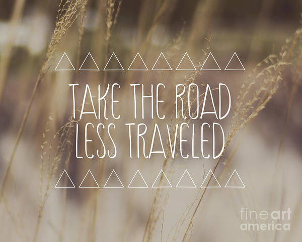 Boho Wall Art - Photograph - Take The Road Less Traveled by Jillian Audrey Photography