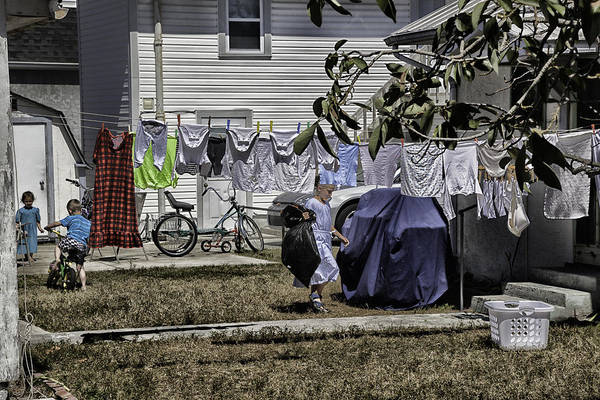 Houses Wall Art - Photograph - Taking Out The Garbage - Sarasota - Florida by Madeline Ellis