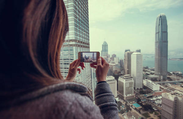Sweater Photograph - Taking Photo Of Beautiful City With by D3sign