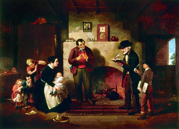 Census Painting - Taking The Census, 1854 by Granger