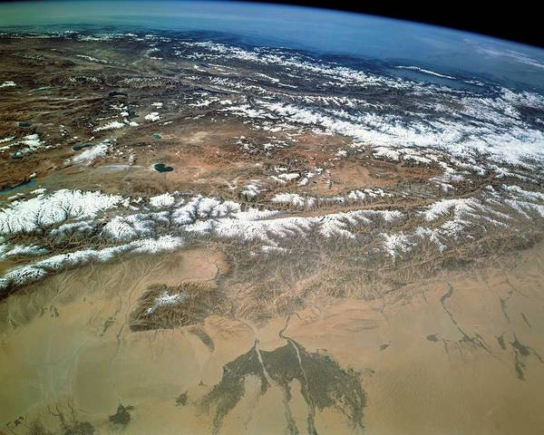 Endeavour Photograph - Taklamakan Desert And Tibetan Plateau by Nasa/science Photo Library