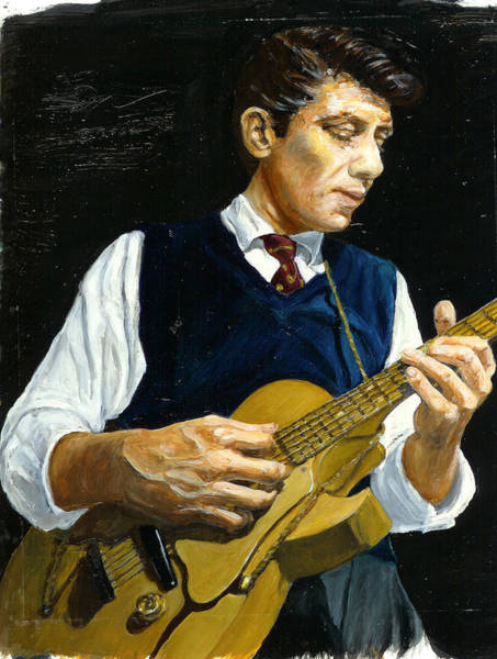 Wall Art - Painting - Tal Farlow by Rudy Browne