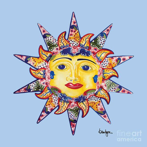 Painting - Talavera Sun-blue by Kandyce Waltensperger