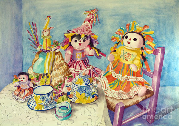 Painting - Talavera Tea With Friends by Kandyce Waltensperger